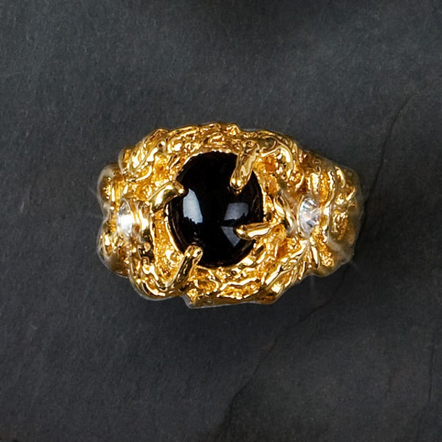 Elvis Presley 18kt Gold Plated Sapphire Ring