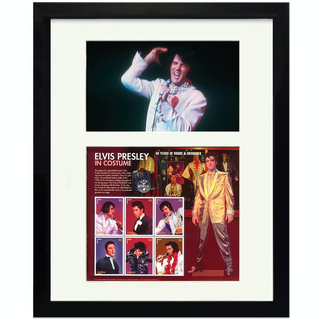 Elvis Presley In Costume Framed Collectible Stamps