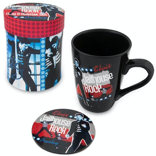 Elvis Presley Jailhouse Rock Mug/Coaster Set