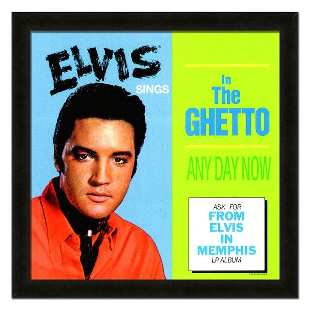 Elvis Presley In the Ghetto Framed 20x20 Album Cover Art