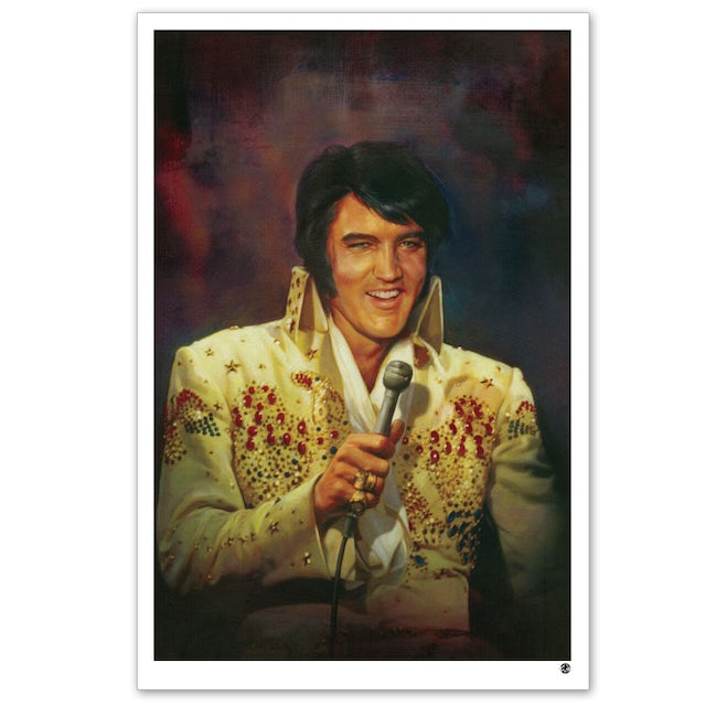 "Elvis Presley Jumpsuit 20x30"" Giclée Print on Canvas"