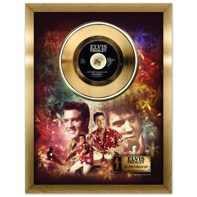 Elvis Presley Can't Help Falling in Love Framed Gold Record