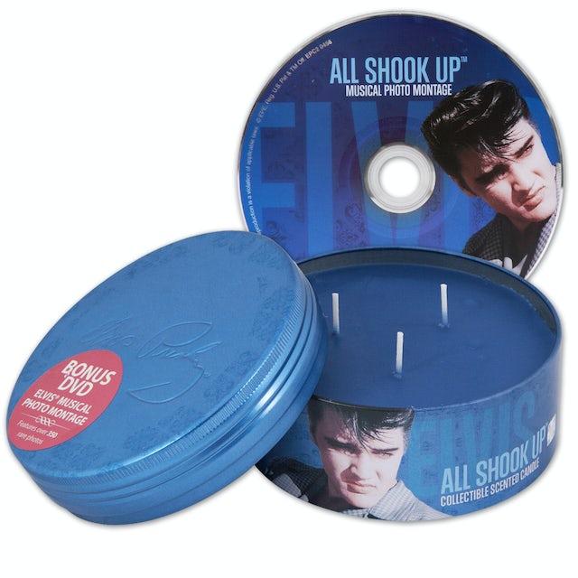 Elvis Presley All Shook Up Scented 14oz Candle & DVD