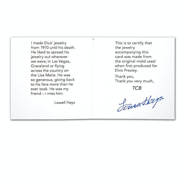Elvis Presley Script 18K Yellow Gold Plated Necklace w/ Swarovski Crystals