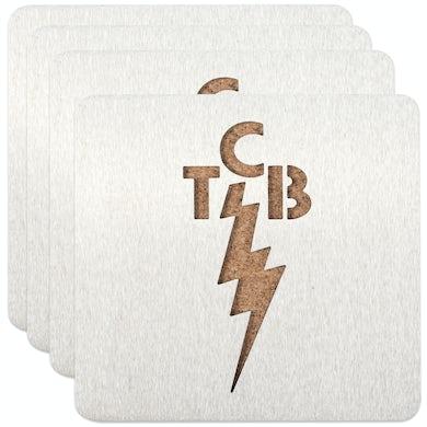 Elvis Presley TCB Coasters