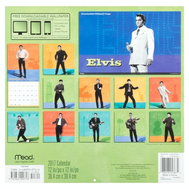 Elvis Presley 16-Month 2017 Wall Calendar