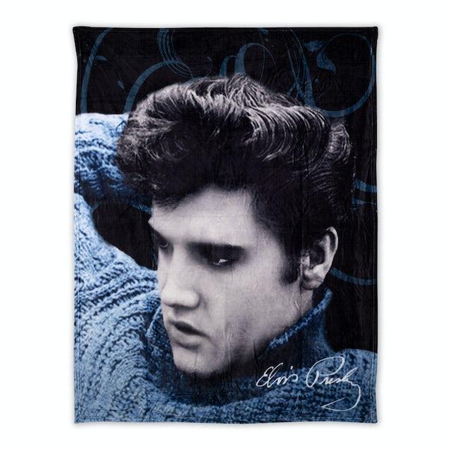 Elvis Presley Blue Sweater Throw