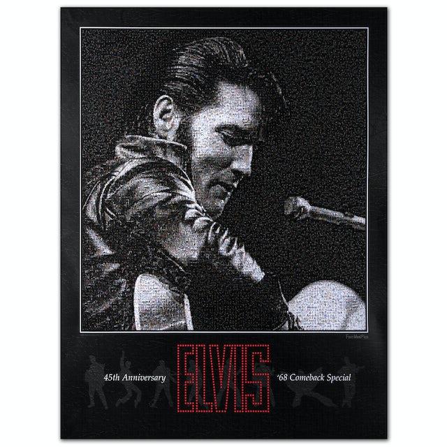 Elvis Presley 68 Special Fan Mosaic Poster