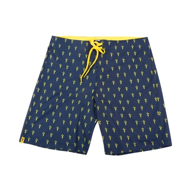 Elvis Presley TCB OG Board Shorts - Navy and Yellow