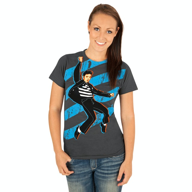 Elvis Presley Jailhouse Rock Stripes Women's T-Shirt