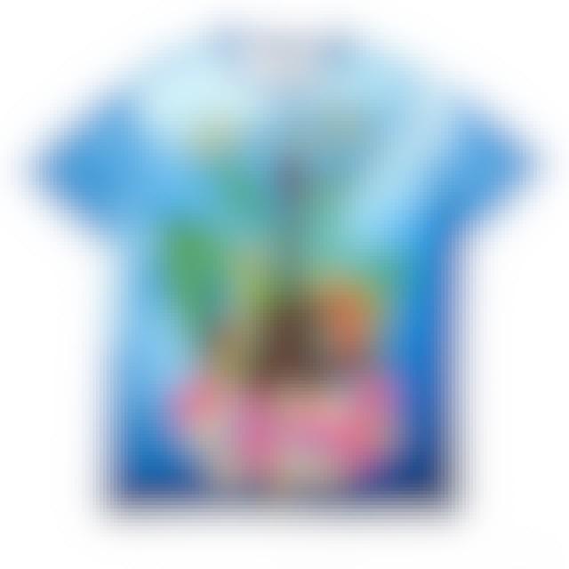 Blue Wave Elvis Presley Ukulele and Parrots T-Shirt