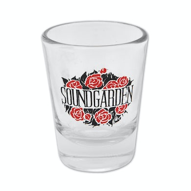 Soundgarden Roses Shot Glass