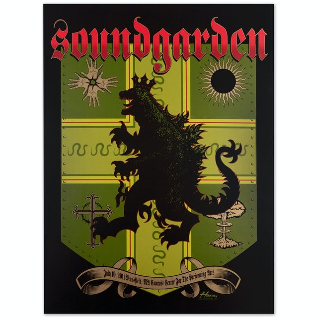Soundgarden Godzilla Shield Print