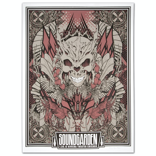 Soundgarden 1/30/2013 Riviera Theater Chicago Print