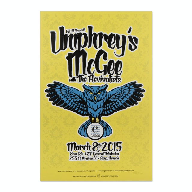 Umphrey's Mcgee with The Revivalists Poster 3/8/15