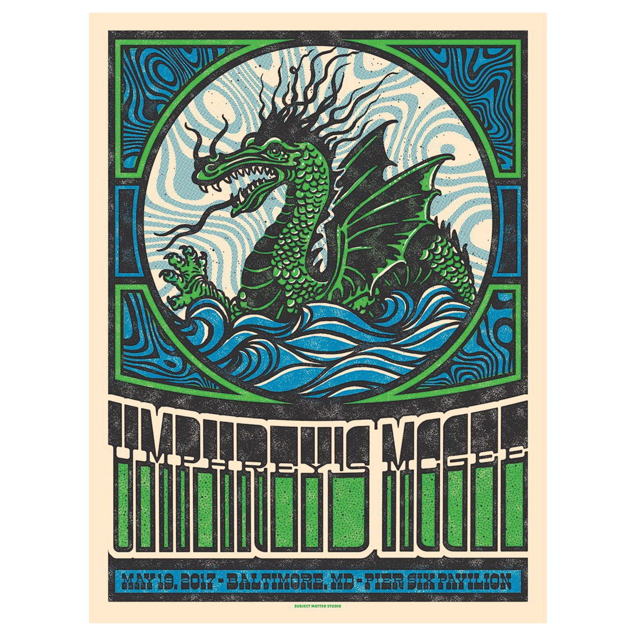 Umphreys Mcgee Pier Six Pavilion Baltimore Poster By Subject Matter Studio
