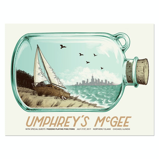 Umphrey's Mcgee Chicago Northerly Island Poster by Justin Santora