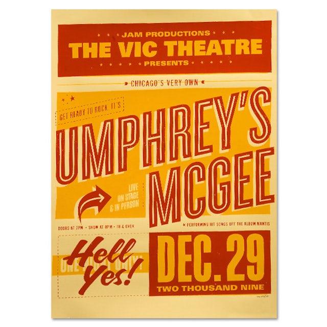 Umphrey's Mcgee 12/29/2009 Vic Theatre Commemorative Poster