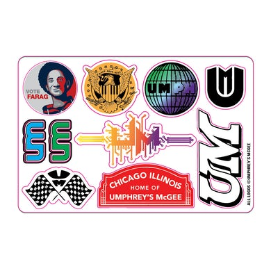 Umphrey's Mcgee Proud Sponsor Sticker Sheet