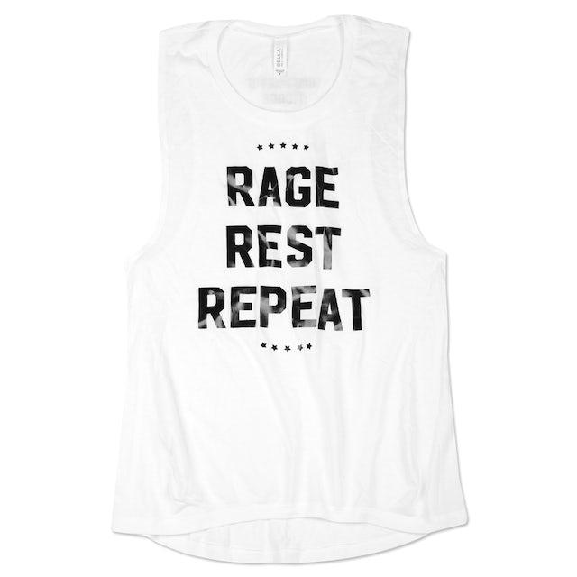 Umphrey's Mcgee Ladies Rage Rest Repeat Foil Tank