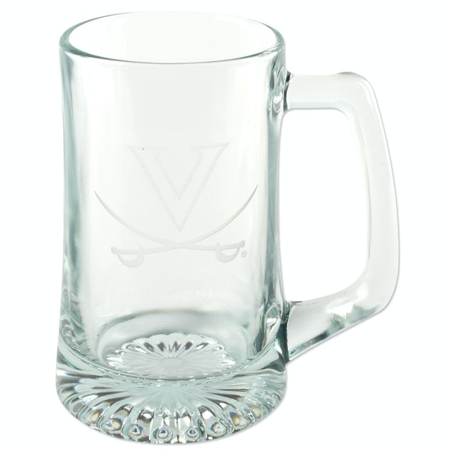 UVA Athletics 15oz Etched Tankard Glass