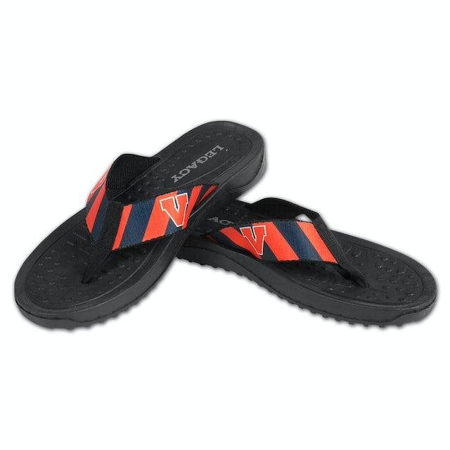UVA Athletics Mens Beachcomber Sandals Prep Stripe