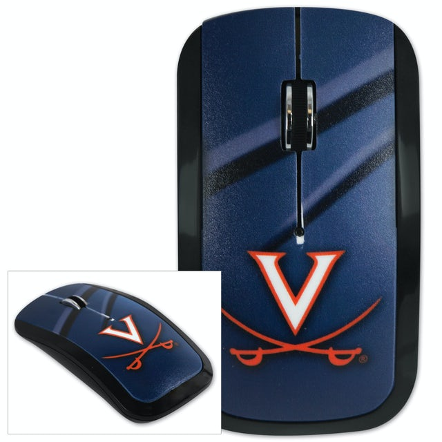 UVA Athletics Wireless USB Computer Mouse