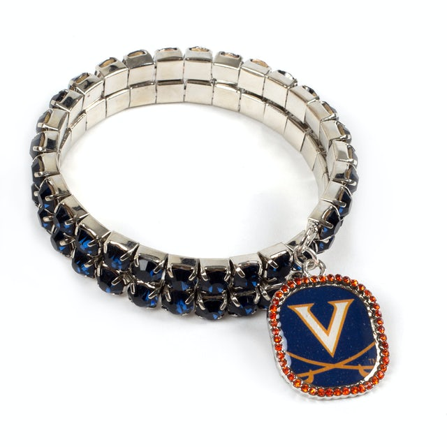 UVA Athletics Double Bling Bracelet