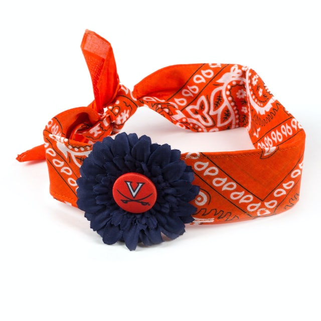 UVA Athletics Daisy Flower Bandana Headband
