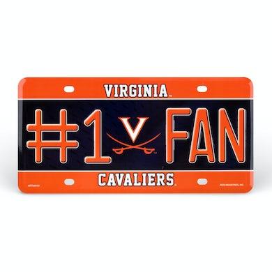 UVA Athletics University of Virginia #1 Fan License Plate