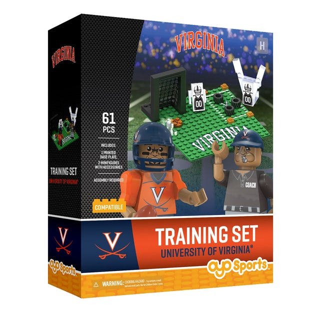 UVA Athletics University of Virginia Training Set + 2 Minifigures