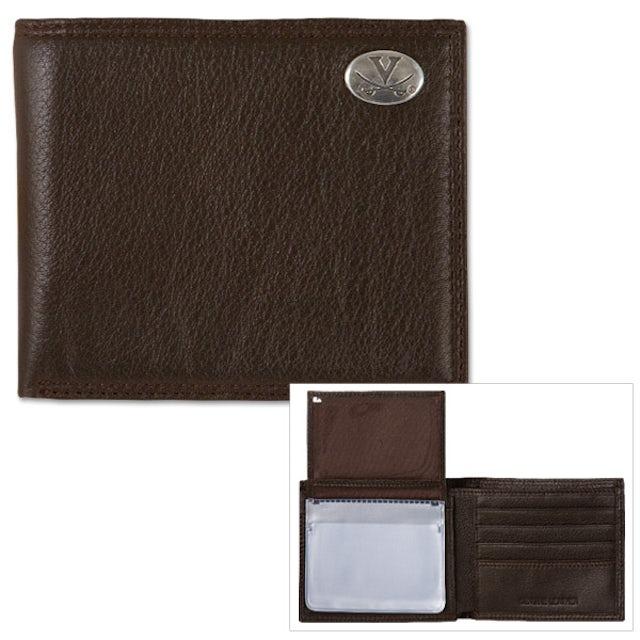 UVA Athletics Pebble Grain Leather Passcase Wallet