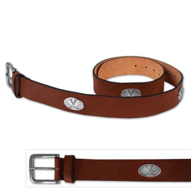 UVA Athletics Relaxed Vintage Tan Leather Belt