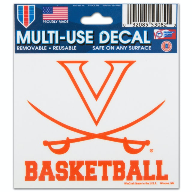 UVA Athletics Basketball - 3X4 Ultra Decal