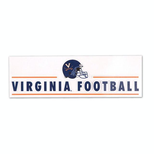 "UVA Athletics Virginia Football 3"" x 10"" Perfect-Cut Decal"