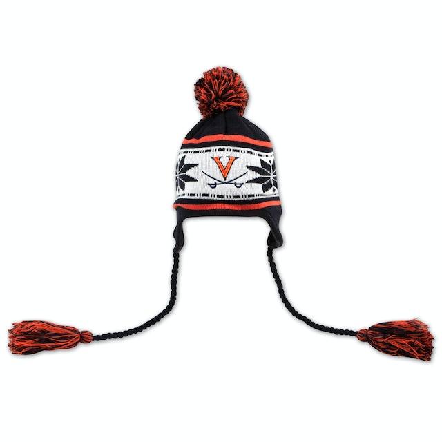 UVA Athletics Striped Snowflake Knit Cap