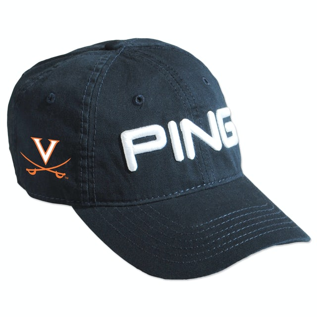 UVA Athletics PING Washed Chino Twill Unstructured Adjustable Cap