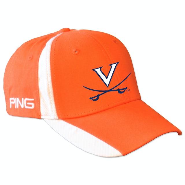 UVA Athletics PING Color Block Twill Structured Velcro Cap