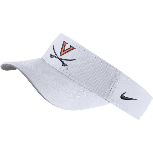 UVA Athletics University of Virginia Nike White V-sabre Visor