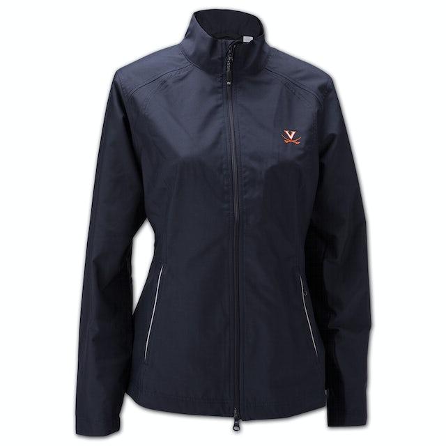 UVA Athletics Cutter & Buck Ladies Weathertec Beacon Full Zip Jacket