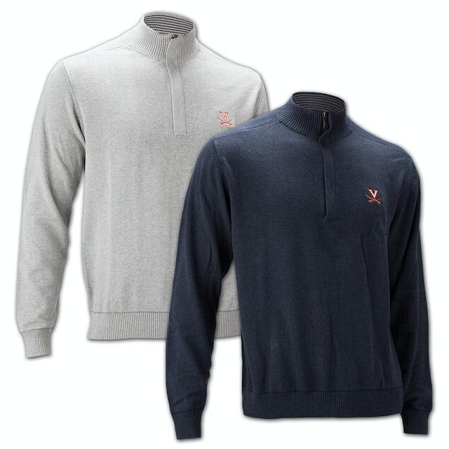 UVA Athletics Cutter & Buck Broadview Half Zip  Sweater