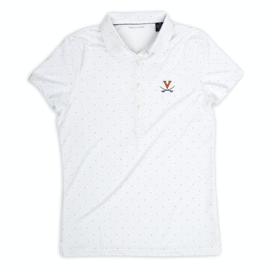UVA Athletics University of Virginia ECOTEC Dual Dot Print Ladies Polo