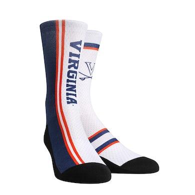 UVA Athletics University of Virginia Cavaliers Jersey Series White Adult Socks