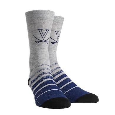 UVA Athletics University of Virginia Cavaliers Vintage Heather Adult Socks