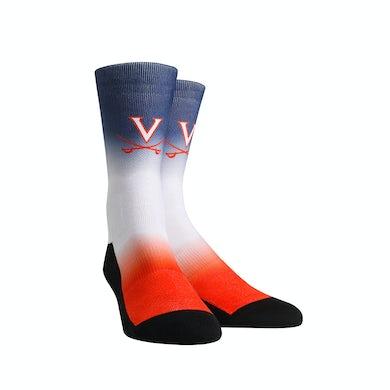 UVA Athletics University of Virginia Cavaliers Dip Dye Adult Womans Socks