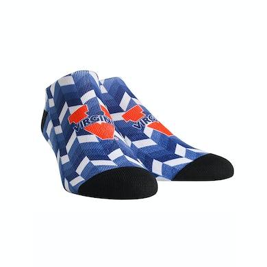 UVA Athletics University of Virginia Cavaliers Gradient Tile  Youth Womans Low Cut Socks