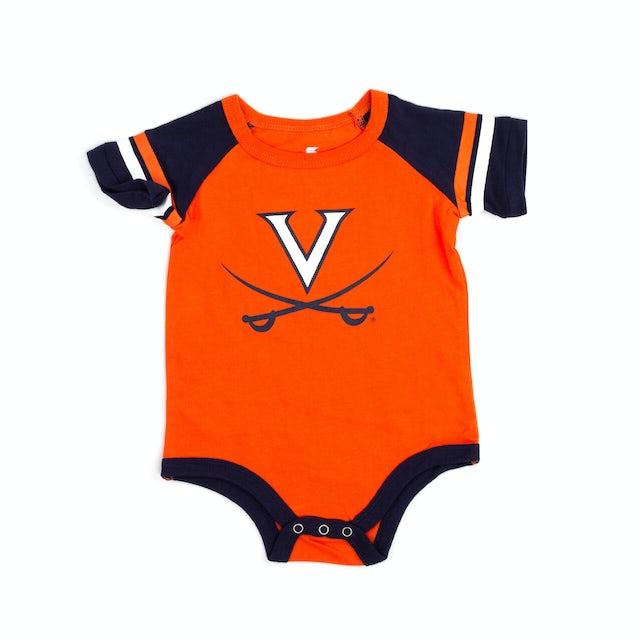 UVA Athletics University of Virginia 2018 Infant Roll-Out Onesie & Bib Set