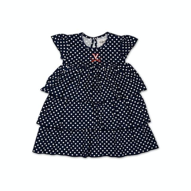 UVA Athletics Infant Natasha Dot Dress