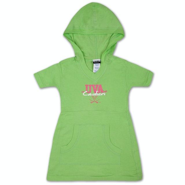 UVA Athletics Youth Girls Lime Pocket Dress