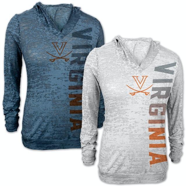 UVA Athletics Vertical Burnout Ladies Hoody